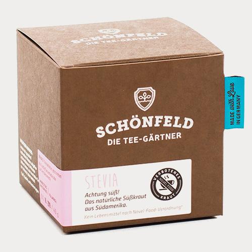 Schönfeld Tee Stevia Box
